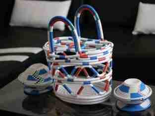 Sisal basket from Africa